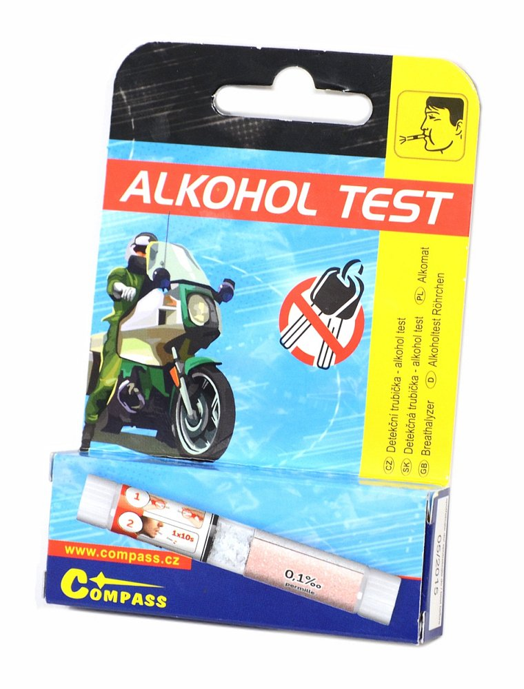 Detekná trubička - alkohol test