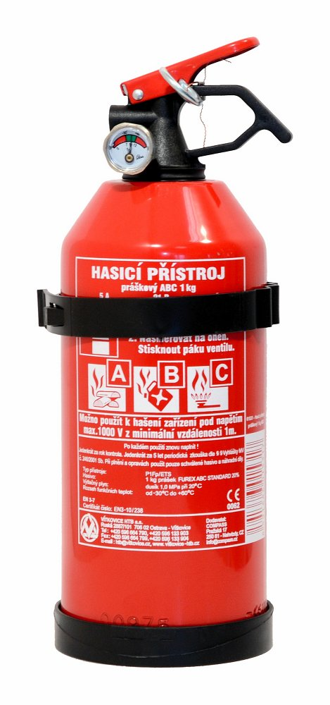Hasiaci prístroj práškový 1 kg ABC