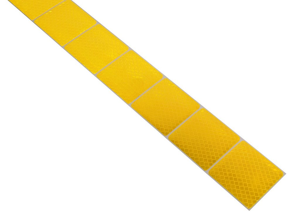 Samolepiaca páska reflexná delená 3M 1m x 5cm žltá