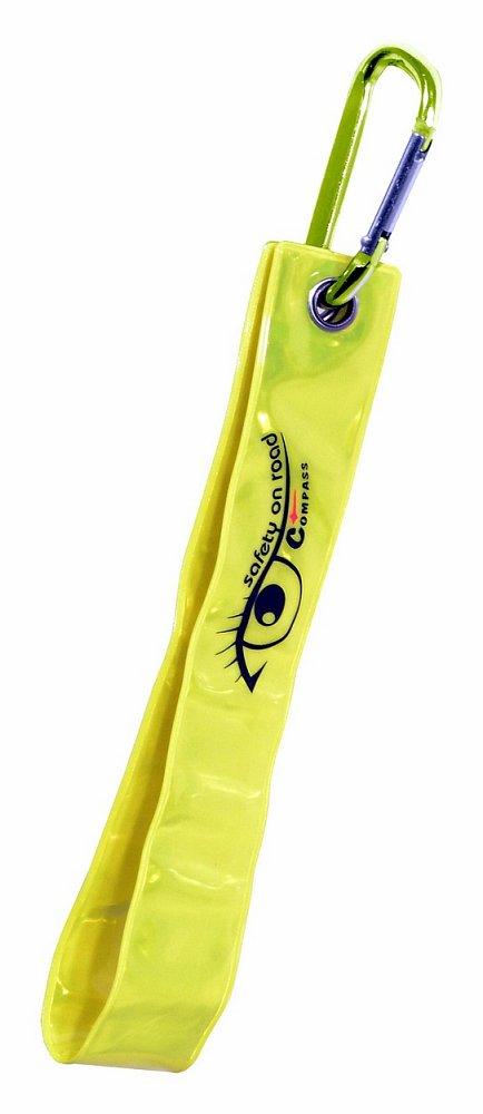 Prívesok s karabinou reflexná S.O.R. žltý