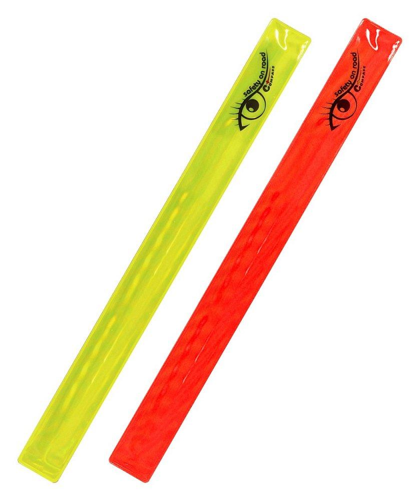 Reflexný pásik ROLLER 2ks žltý + červený