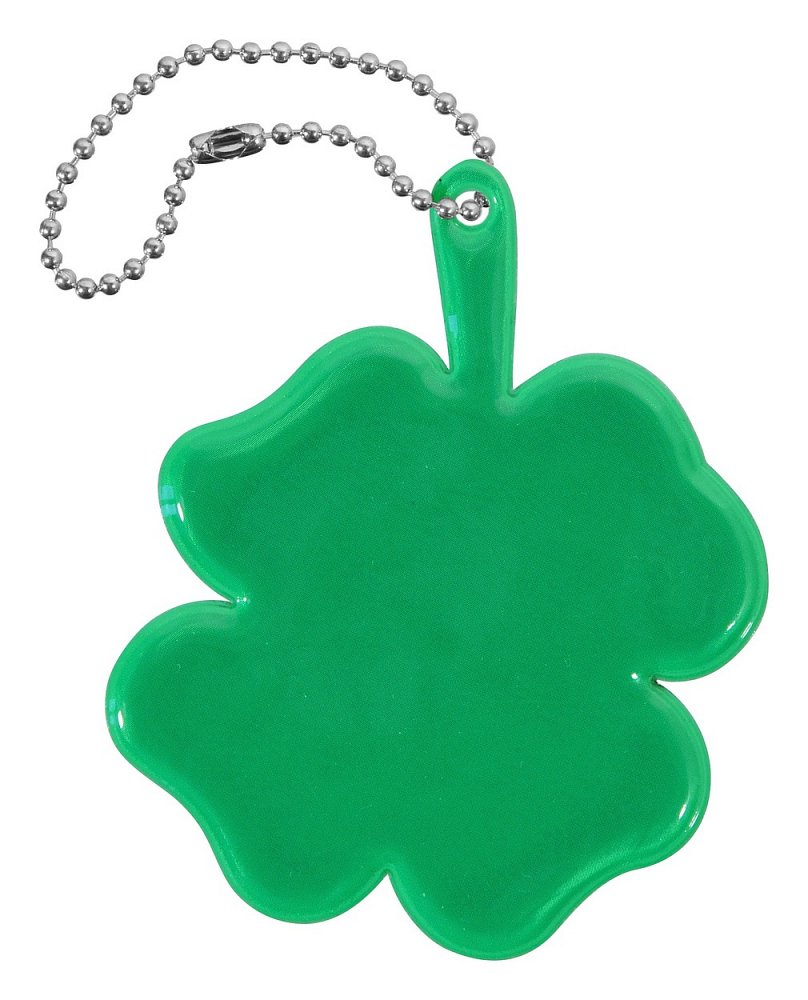 Reflexný prívesok ŠTVORLÍSTOK - zelený