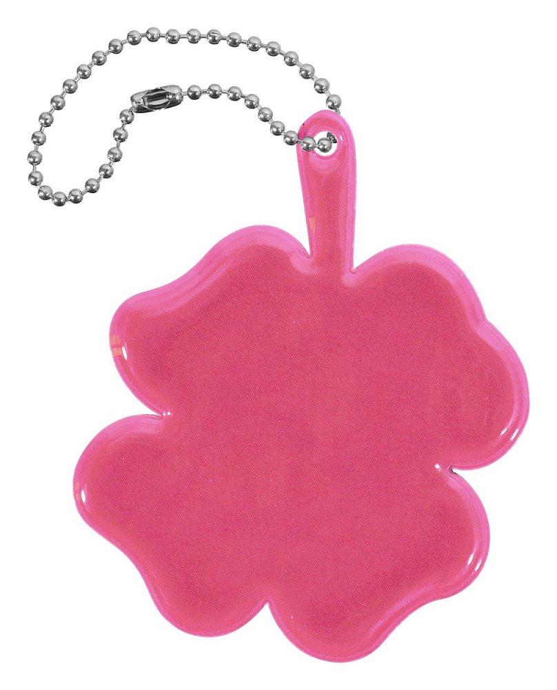 Reflexný prívesok ŠTVORLÍSTOK - ružový