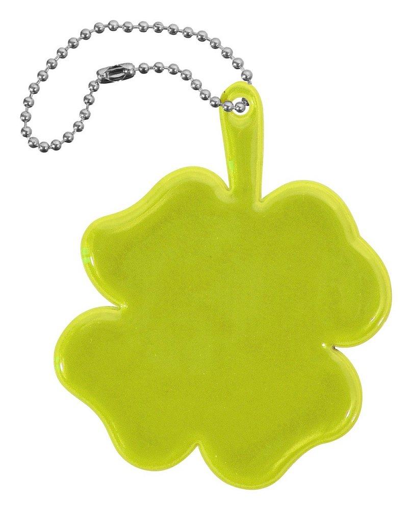 Reflexný prívesok ŠTVORLÍSTOK - žltý