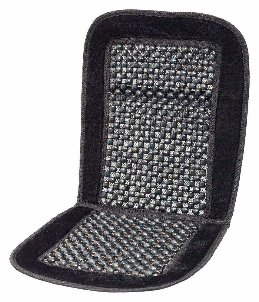 Poťah sedadla guličkový s lemem čierny 93x40cm