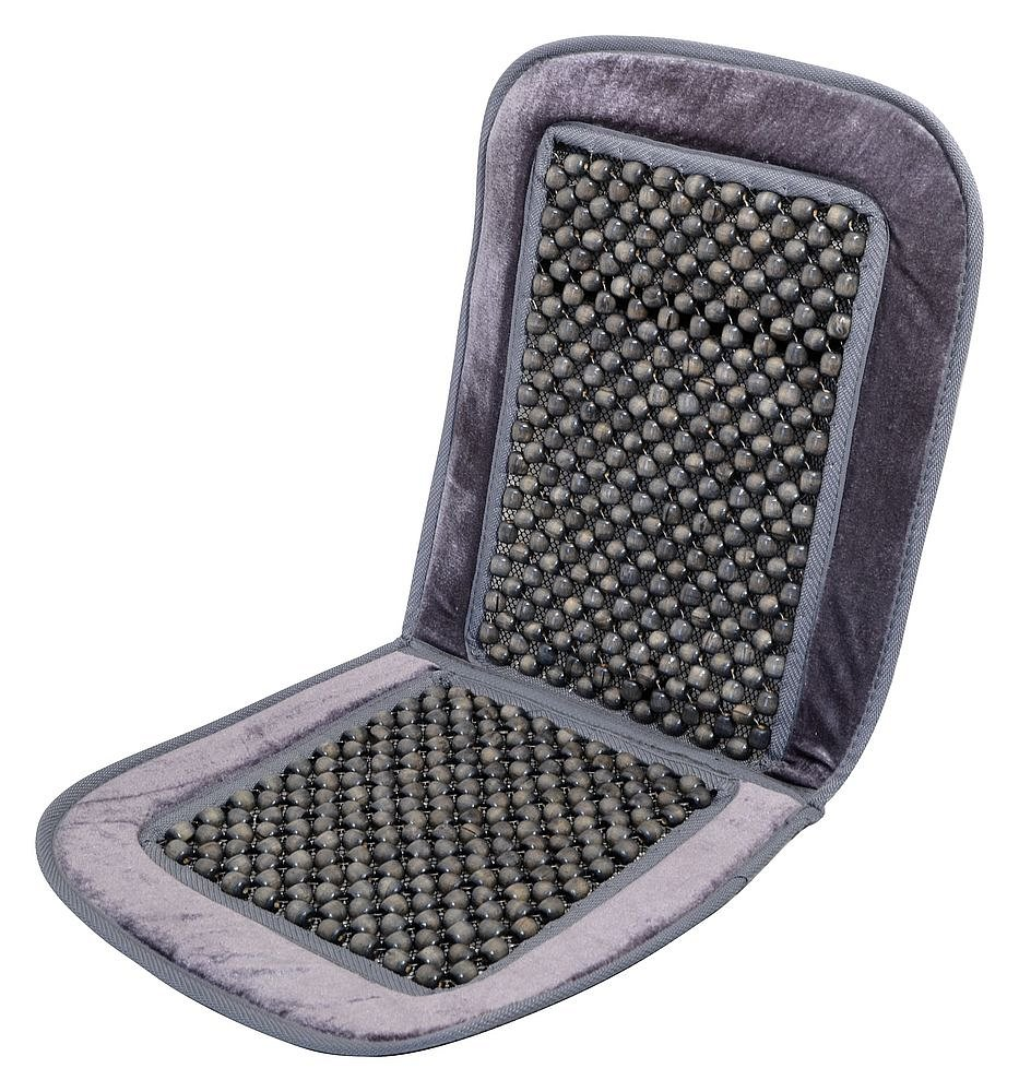 Poťah sedadla guličkový s lemem sivý 93x40cm