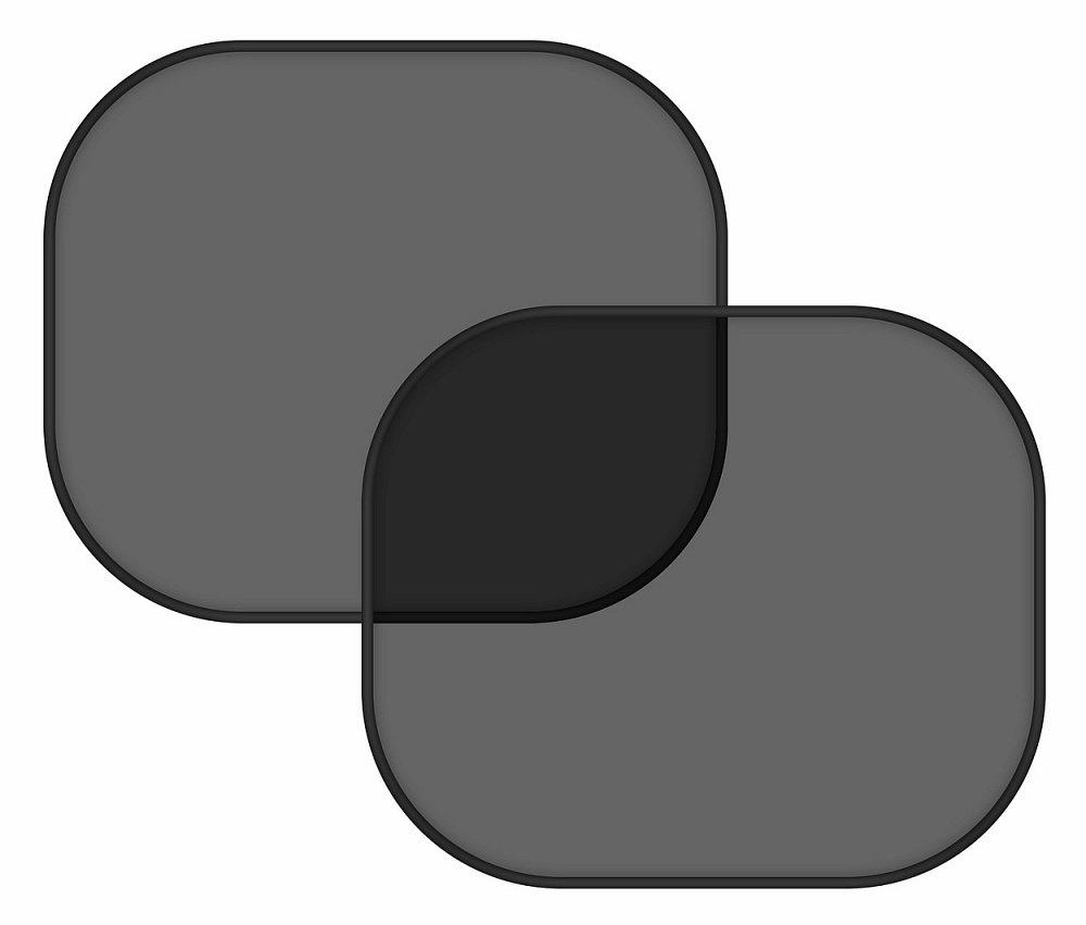 Slnečná clona na bočné okno čierna 2 prísavky
