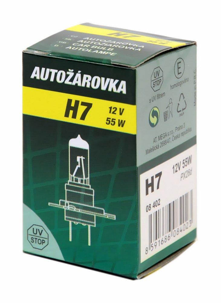Žiarovka 12V   H7   55W PX26D box GREEN