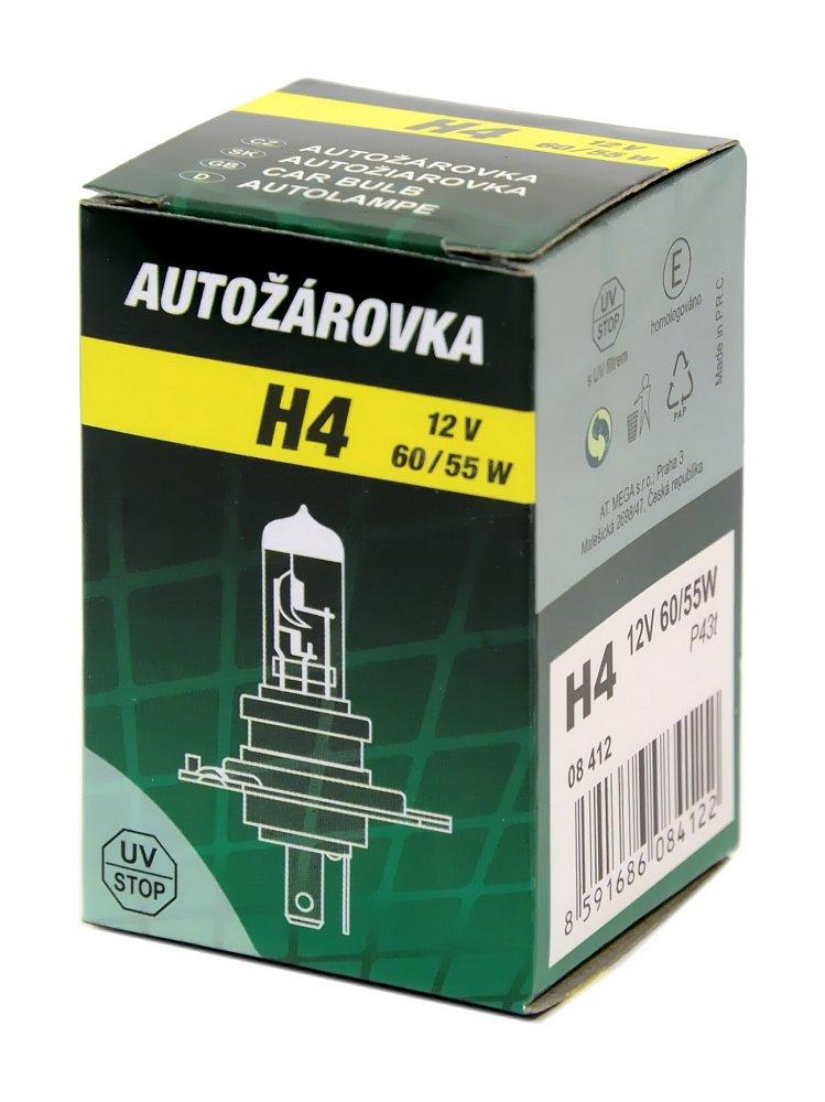 Žiarovka 12V   H4   60/55W P43t  box GREEN