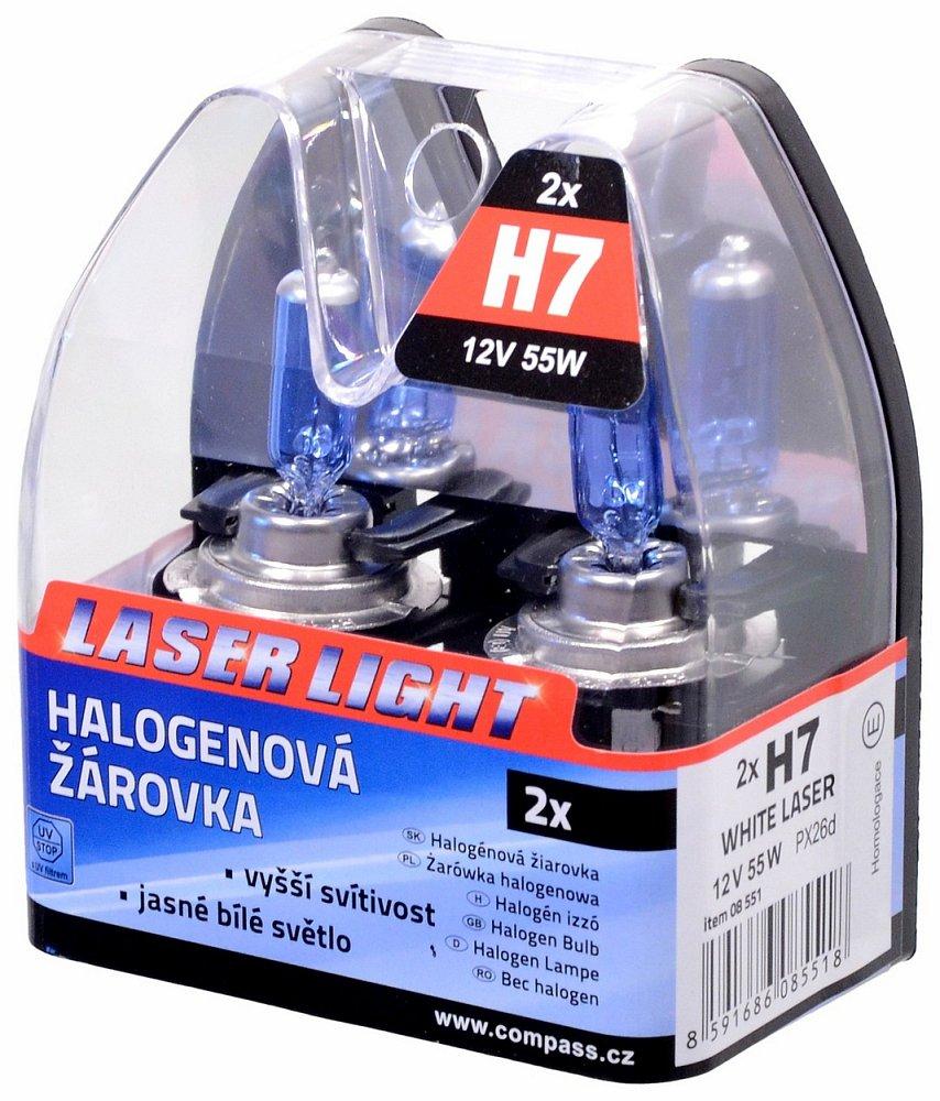 Žiarovka 12V H7 55W WHITE LASER   2ks
