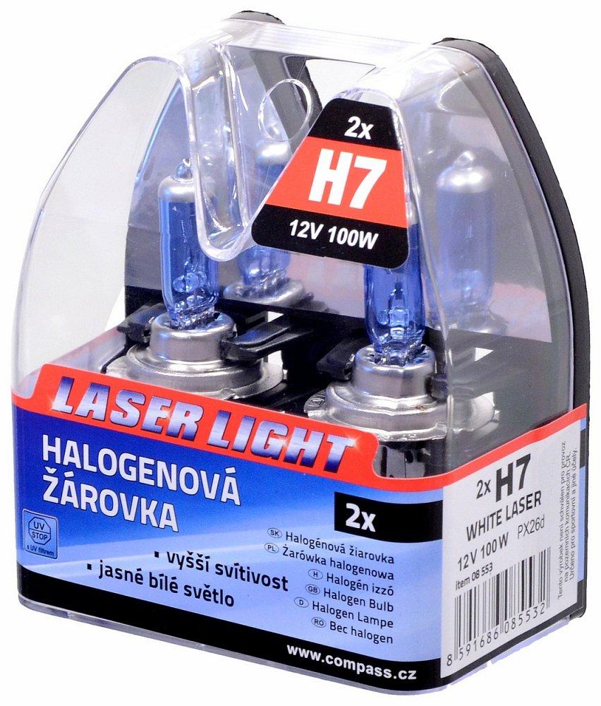 Žiarovka 12V H7 100W WHITE LASER 2ks