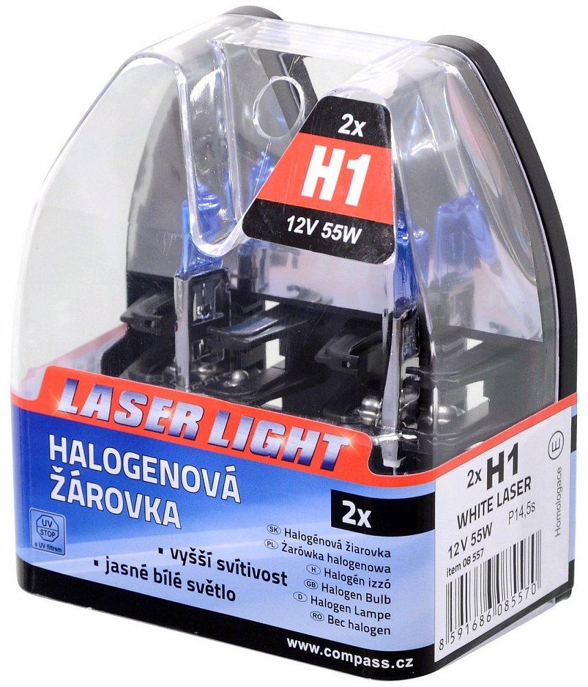 Žiarovka 12V H1 55W WHITE LASER   2ks