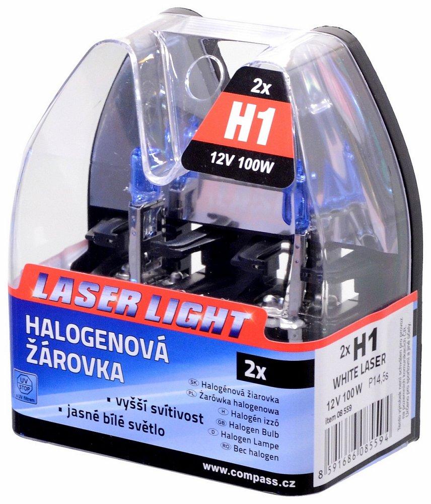 Žiarovka 12V H1 100W WHITE LASER   2ks