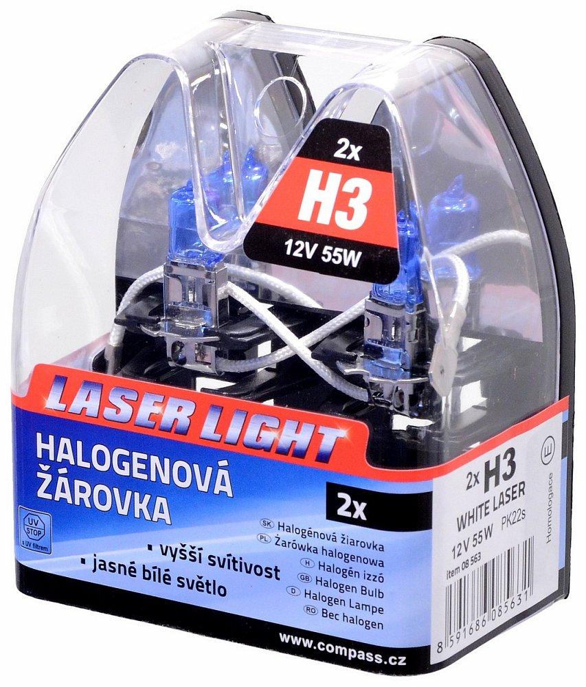 Žiarovka 12V H3 55W WHITE LASER   2ks