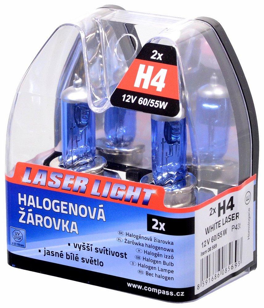 Žiarovka 12V H4 60/55W WHITE LASER   2ks