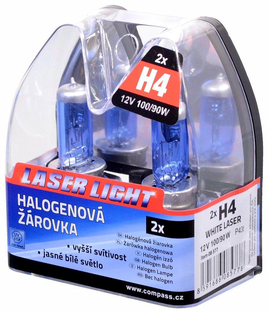 Žiarovka 12V H4 100/90W WHITE LASER   2ks