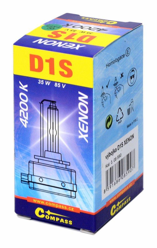 Výbojka D1S XENON homologovaná 4200K
