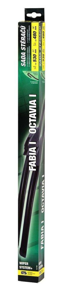 Stierače FLAT SET 530+480mm GREEN OCT I/FAB I