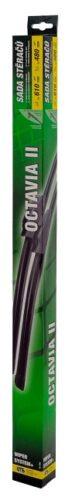 Stierače FLAT SET 610+480mm GREEN OCT II