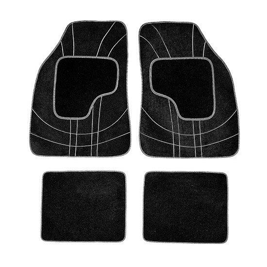 Koberce textilné NET 4ks sivé