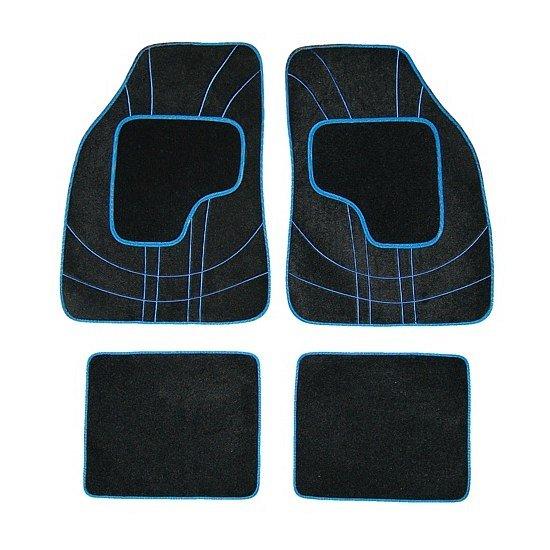 Koberce textilné NET 4ks modré