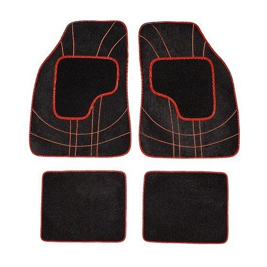 Koberce textilné NET 4ks červené