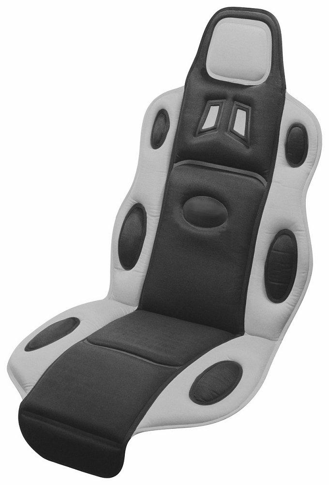 Poťah sedadla RACE černo-sivý