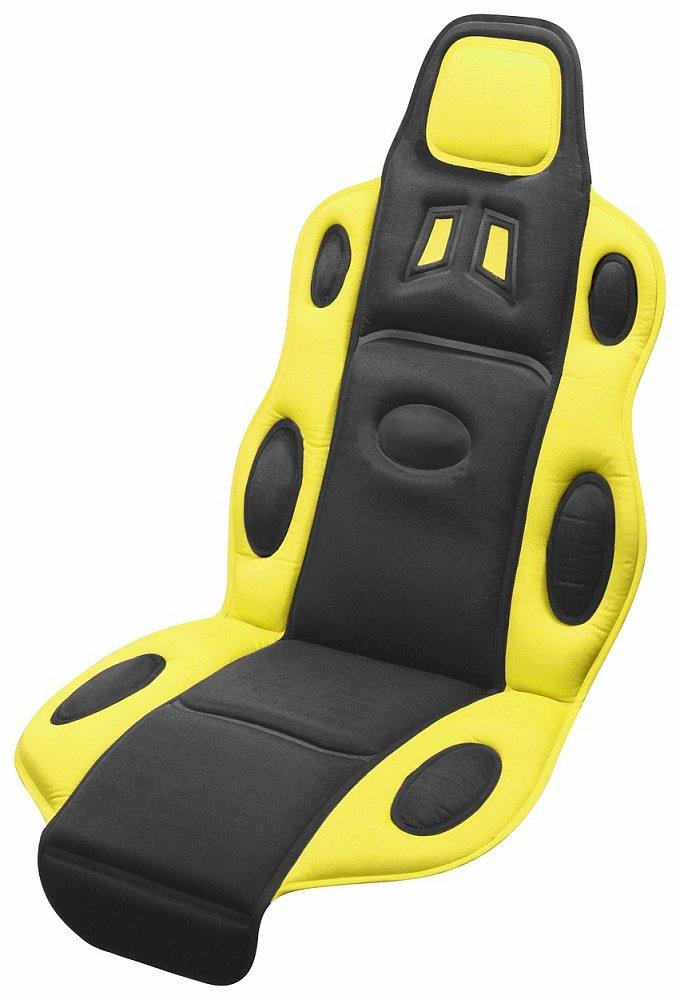Poťah sedadla RACE černo-žltý