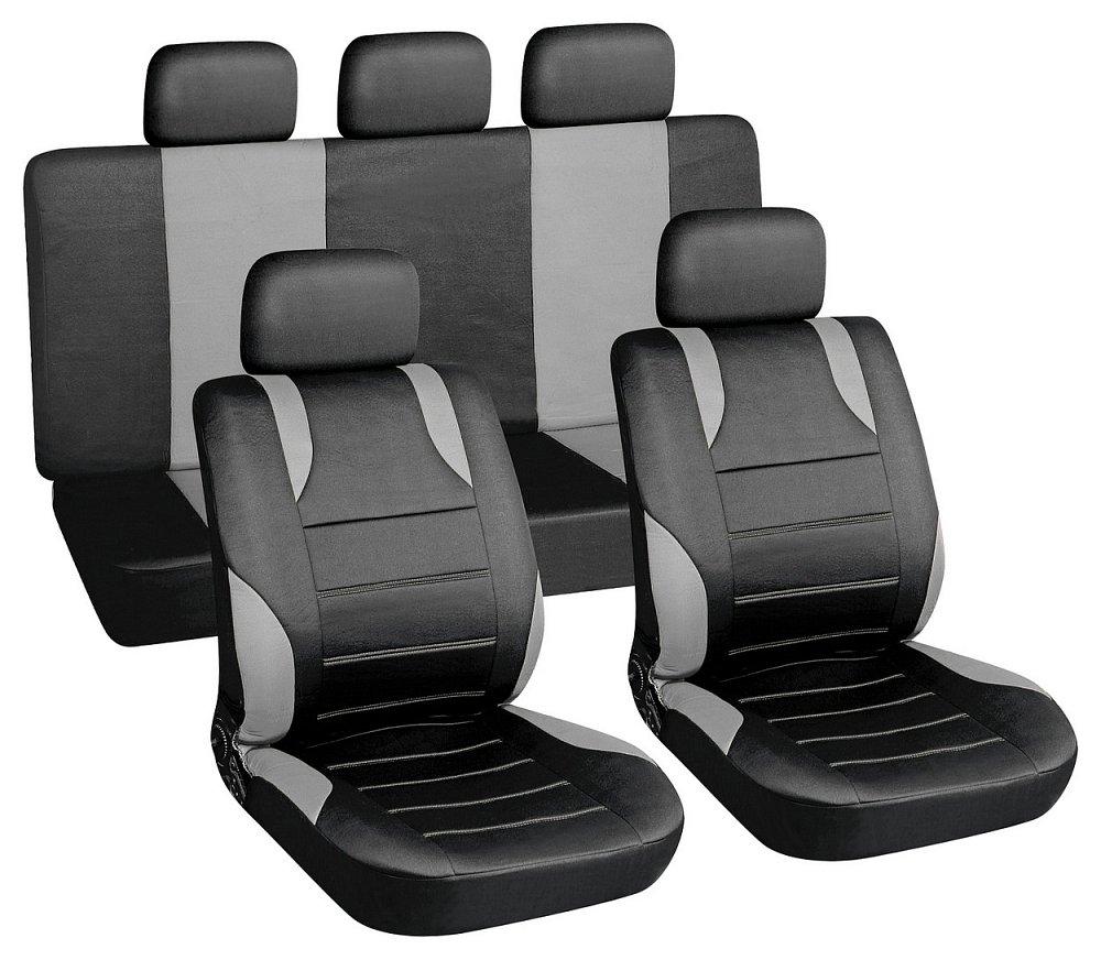 Poťahy sedadiel sada 9ks SPORT sivé AIRBAG