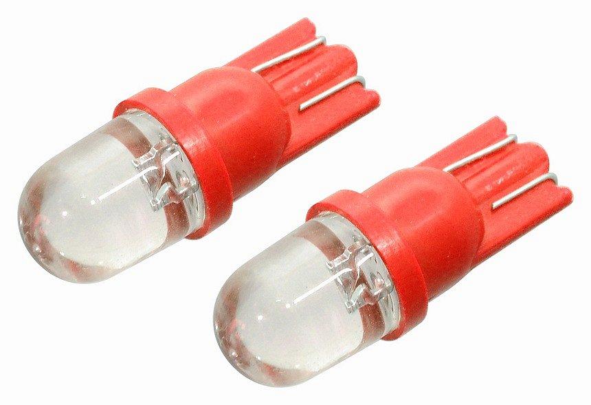 Žiarovka 1LED 12V  T10  červená  2ks