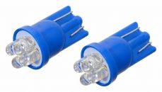 Žiarovka 4LED 12V  T10  modrá  2ks