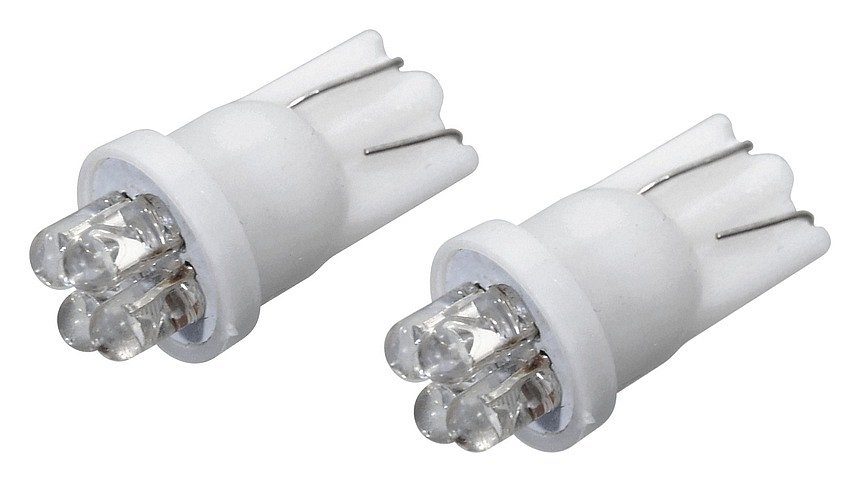 Žiarovka 4LED 12V  T10  biela  2ks