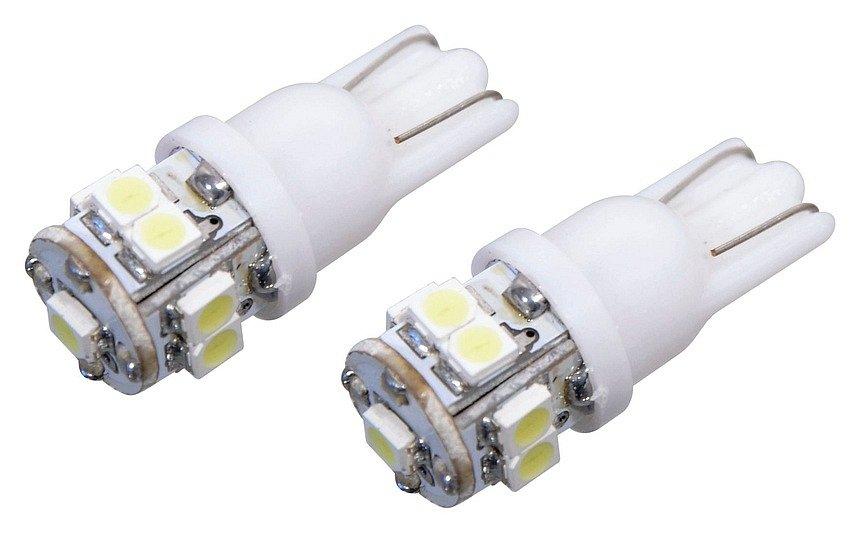 Žiarovka 9 SUPER LED 12V  T10  biela 2ks