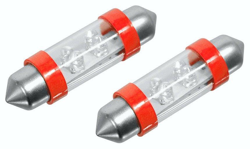 Žiarovka 4LED 12V  suf.11X39 SV8.5  červená  2ks