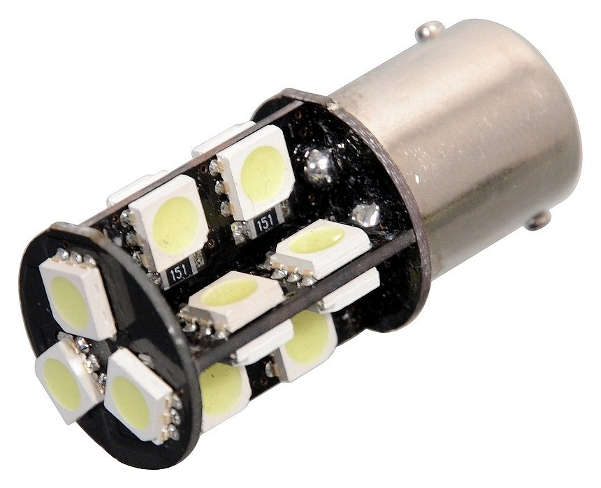 Žiarovka 19 SMD LED 12V Ba15S s rezistorom CAN-BUS ready biela