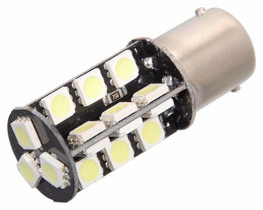 Žiarovka 44 SMD LED 12V Ba15S s rezistorom CAN-BUS ready biela