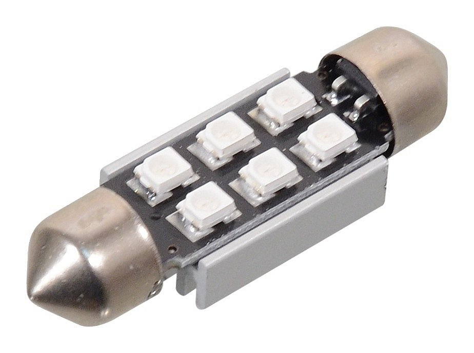 Žiarovka 6 SMD LED 12V suf. SV8.5 CAN-BUS modrá