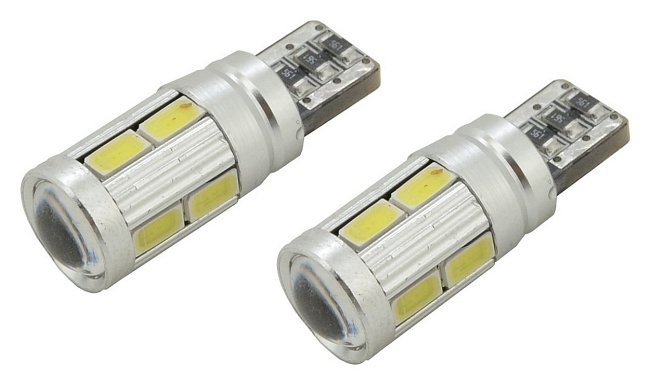 Žiarovka 10 SMD LED 3chips 12V T10 CAN-BUS ready biela 2ks