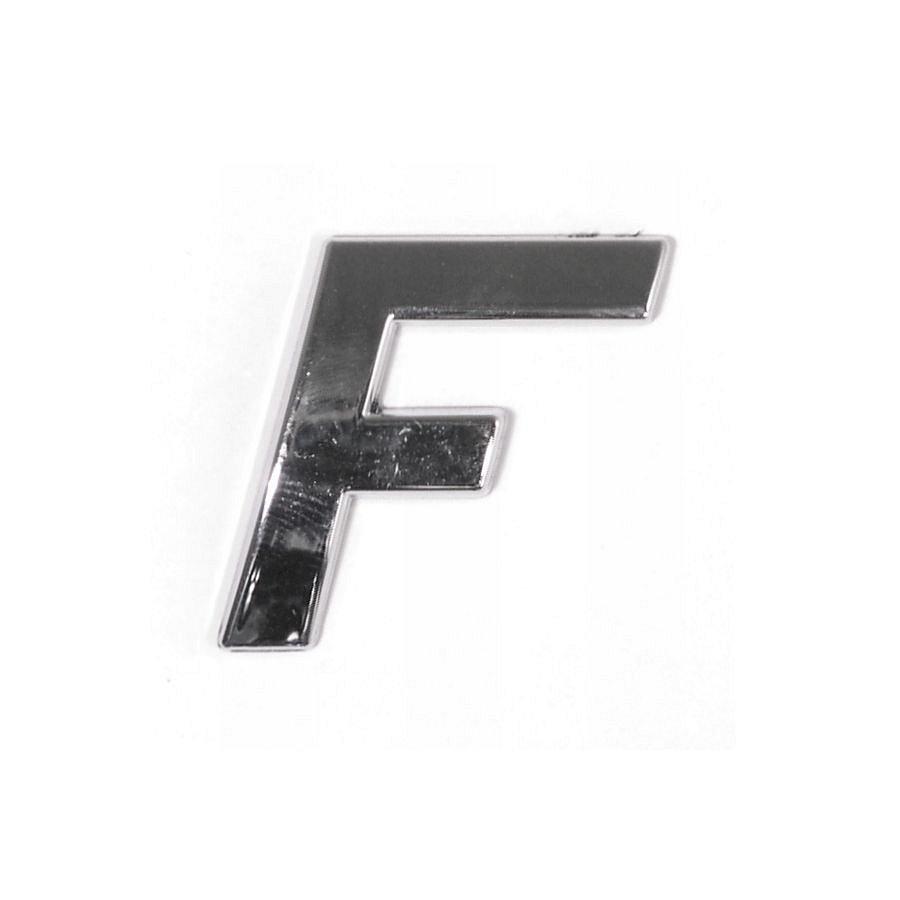 Znak F samolepiaci PLASTIC