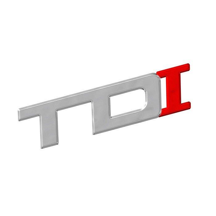 Znak TDI samolepiaci PLASTIC