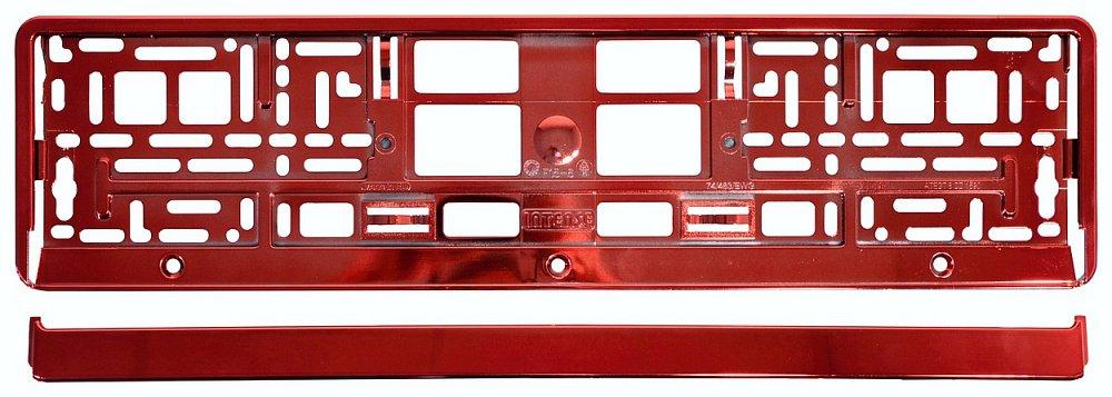 Podložka pod ŠPZ RED metalic