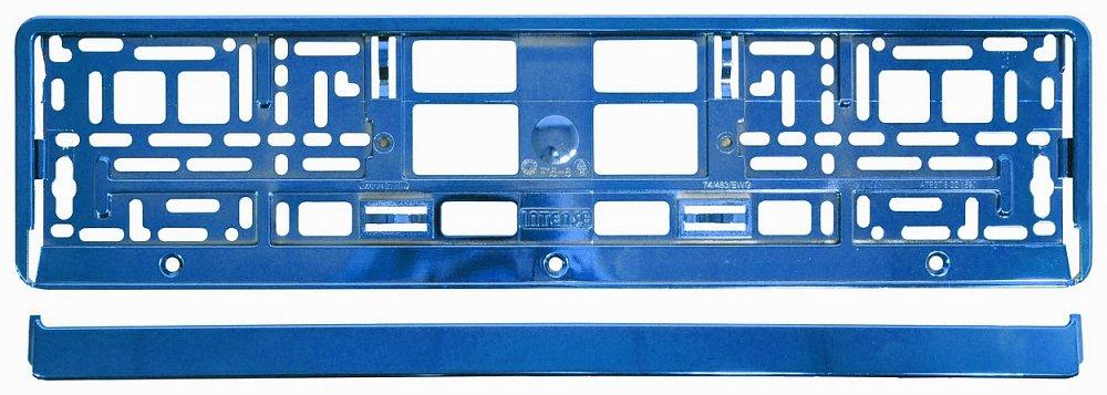 Podložka pod ŠPZ BLUE metalic