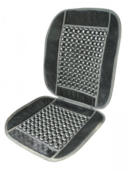 Poťah sedadla guličkový s lemom čierny