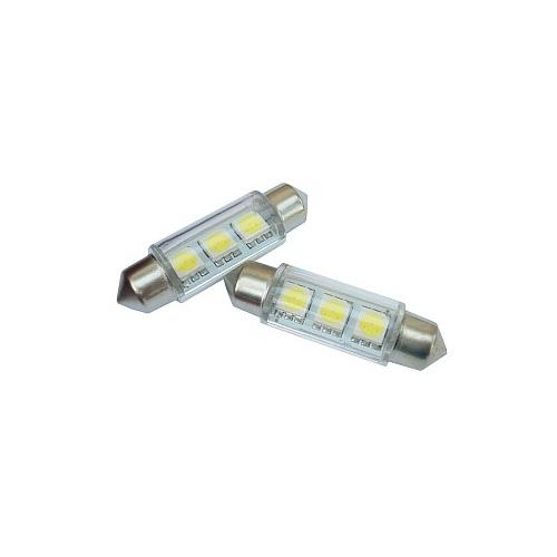 Žiarovka LED 12V 5W SV8.5 - 3SMD biela 2ks