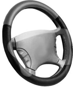 Poťah volantu 37-39cm čierno-sivý