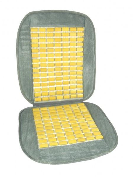 Poťah na sedadlo bambus+velur sivý