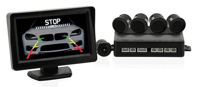 Parkovací asistent 4 senzory + zadná kamera