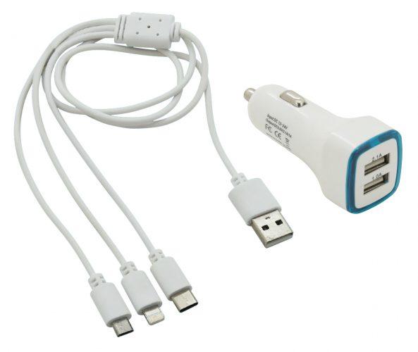 Nabíjačka telefónu USB 3in1 (micro USB