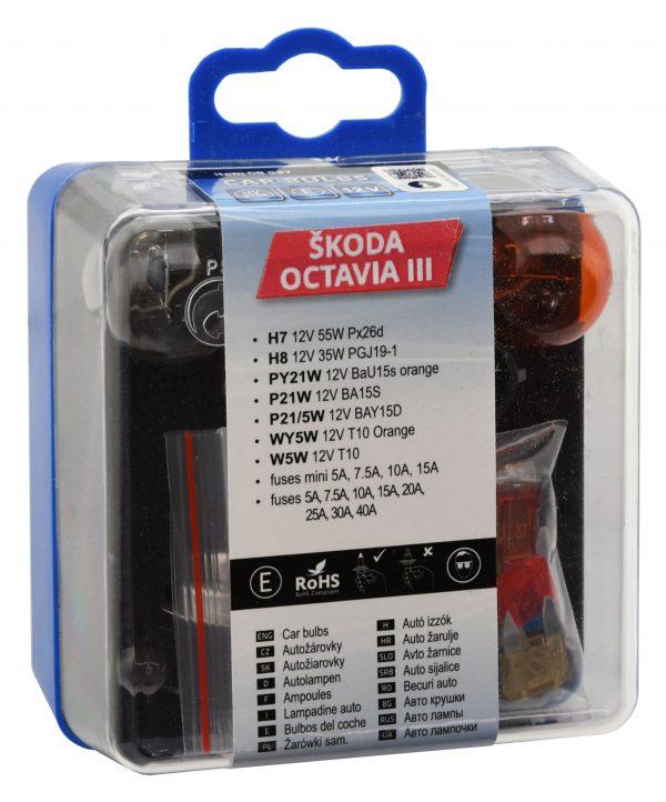 Žiarovky servisné box ŠKODA OCTAVIA III H7+H8