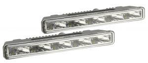 Svetlá denného svietenia 5 HIGH POWER LED 12V/24V (185x23x55 mm)